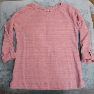 CROFT & BARROW Pink Knit Sweater